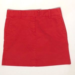 NWT - J. Crew Red/Orange Mini Skirt